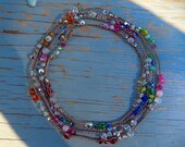 Special listing for Allana Sparkling Cashmere crocheted wrap bracelets/necklaces