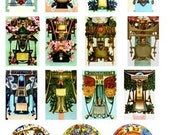 Vintage Zodiac Astrology Signs astrological Digital Collage Sheet images GreatMusings No.252