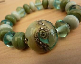 Harmony Bracelet ... handmade glass and silver ... UK SRA