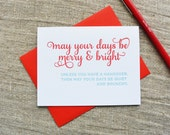 Letterpress Holiday Card - Brunchy Hangover - NQH-164