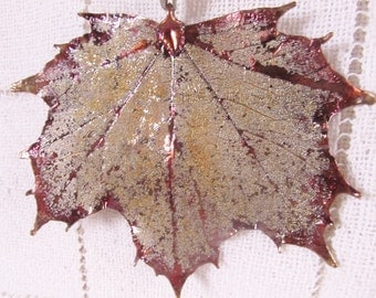 Copper Dipped Maple Leaf, Ornament, Pendant