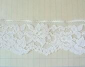 White Chantilly Flat Lace