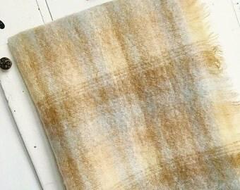 Irish Eyes Are A Smilin... Vintage Irish Mohair Wool Blend Plaid Stadium Blanket Picnic Blanket Camp Blanket Throw