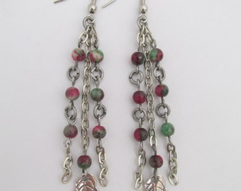Bead & Chain Earrings - Boho Style