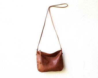 big sale - Crossbody Case in lightweight leather - medium - crossbody bag - with crossbody strap - small leather bag