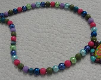 Marti Gras Beaded Necklace