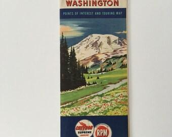 1940 Washington Touring map Chevron