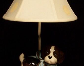 Puppy Dog Lamp -  Child's Lamp -  Kids Room Lighting