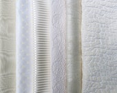 Ivory, Off White, Cream Fabric Pack, Collection...CLOSEOUT SALE, Clearance Destash...6 home design samplers, remnants,scraps, texture, F1620