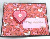 Valentine Felt Heart - Handmade Valentine's Day Greeting Card