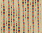 Japanese Fabric, Cotton Fabric by the Yard, Nature fabric, Rainbow fabric, Flying Colors by Momo, Rainbow Stripe Natural, Choose your cut