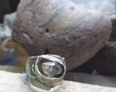 Love herkimer diamond ring in recycled silver size 6.5