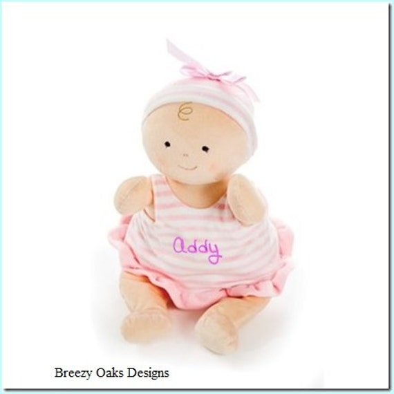 "Personalized Cloth Baby Doll 15"", Sibling Gift, Rag Doll, Shower Gift, Toddler Doll, Baby Doll, Cloth Doll, Toy Doll, Safe Doll,Girl Doll,"