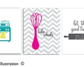Funny Kitchen Art, Take Whisks, Funny Quotes, Let the good times roll, Funny Kitchen Sayings, Art Prints