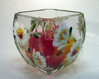 Hand Painted Shasta Daisy Candy Bowl