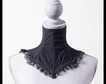 Black Viscose Neck Corset