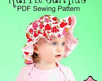 SALE Ruffle Sun Hat Sewing Pattern for all sizes
