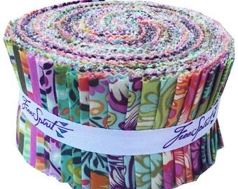 "Tula Pink CHIPPER Design Roll 2.5"" Precut Fabric Quilting Cotton Strips Free Spirit"