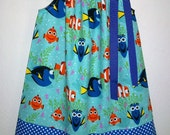 Finding Dory Dress Pillowcase Dress with Dory and Nemo All Smiles Ocean Animals Dress baby dress toddler dress Under the Sea Dory Party
