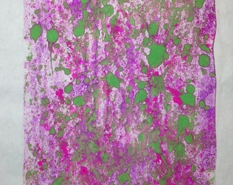 """Monotype printmaking abstract titled """"Vine"""" Art"""
