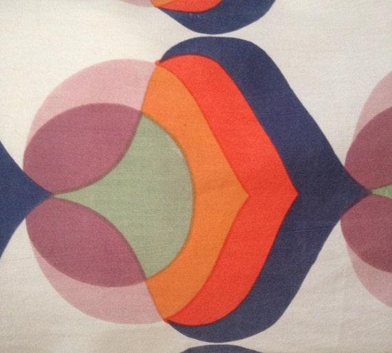 mod pillow cover king size sham 16x20 abstract modern blue orange sage