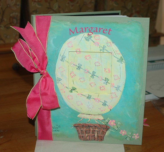 Bohemian Balloon Baby Memory Book