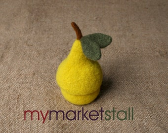 Pear Jar with Removable Lid - Felted - Bowl - mymarketstall original - In Stock - Ready to Ship