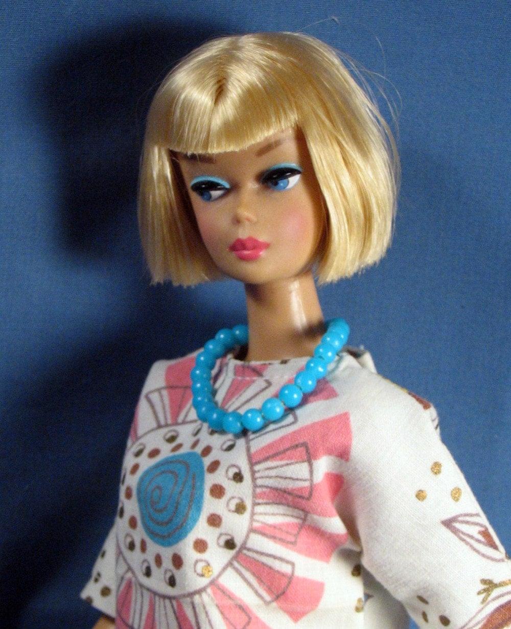 barbie clothes vintage print tunic and slacks set