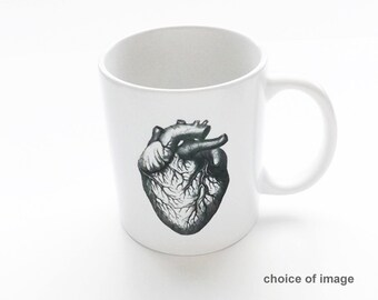 anatomy unique coffee MUG skull brain anatomical heart graduation party science cardiology medical school gifts doctor office nurse goth