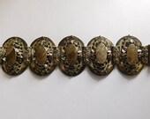 Art Nouveau Etruscan Style Bracelet Antique Panel Bracelet Unusual Jewelry