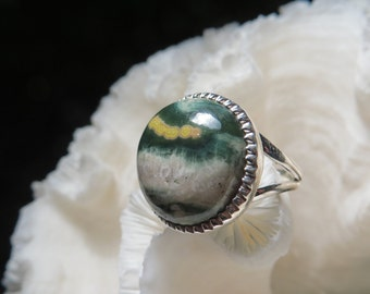 Ocean Jasper Ring Size 9.5