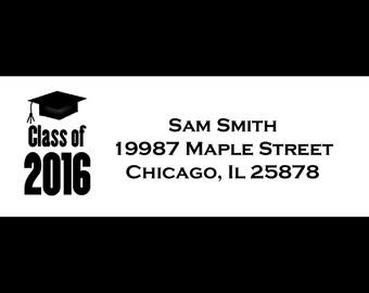 30 Personalized Graduation  Return Address Labels   -Class of 2015 - High School Graduation - College Graduation