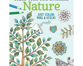 Color Your Own Sticker Nature Coloring Book O Design Originals Colouring FOX 5590