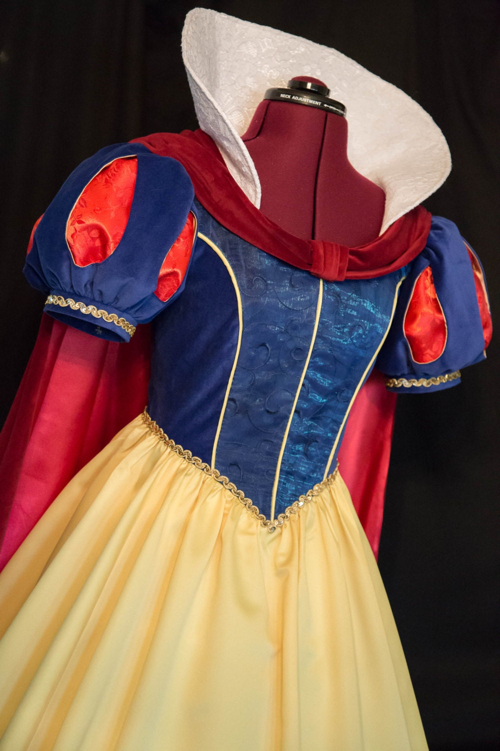 Snow white apron etsy - Exquisite Deluxe Adult Snow White Teardrop Sleeve Gown Cape Bow Costume Custom Size