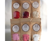 Sweet Valentine's colour pack deal 6x 25g (1oz) bags merino wool roving