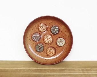 Stoneware Ceramic Soap Dish in Shino Glaze