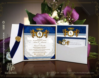 Royal Medieval or Regency Style Wedding Invitations