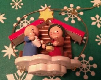 Vintage Collectible Kathe Wohlfahrt Nativity Christmas Ornament