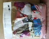 Vintage Kimono Fabric Scraps - Quilting and Small Projects - Bag 9 -  Mix