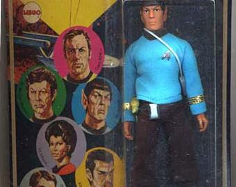 Mr Spock - Star Trek - Action Figure Mr Spock - In Original Package -Mego 1974