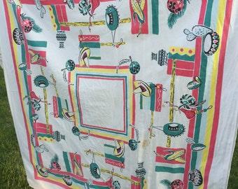 Vintage Southwestern Print Tablecloth