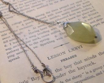 Light Olive Jade Necklace