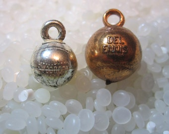 vintage charms ,copper baseball , college charm ,silver baseball