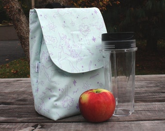 Insulated Lunch Bag Lunch Tote Kawaii Sketchbook Ready To Ship