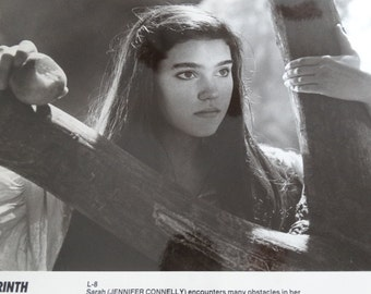 1986 Labyrinth Press Photograph, Jennifer Connelly Sarah, Magic Kingdom, Desire after eating poisonous peach, Tri Star Pictures