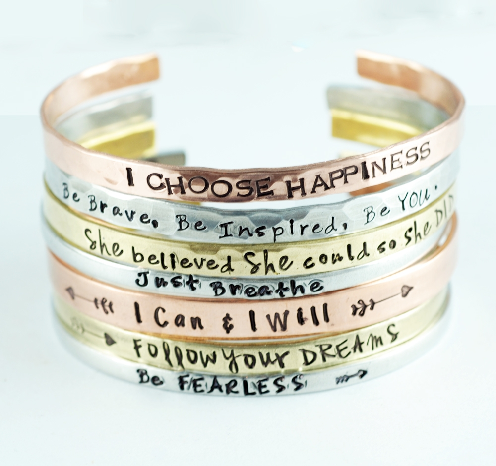 Love these personailzed cuff bracelets