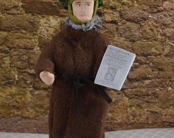 Giovanni Boccaccio-  Italian Poet- Miniature Size- Art Dolls- Classic Poetry