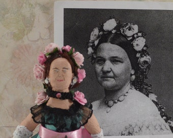 Mary Todd Lincoln Doll First Lady Historical Presidential Miniature Art Collectible