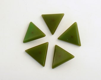 Vintage Green Bakelite Buttons Triangle Buttons Art Deco