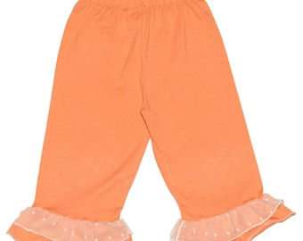 SAMPLE SALE - Petal Carpi Leggings in Apricot - Size 12 months